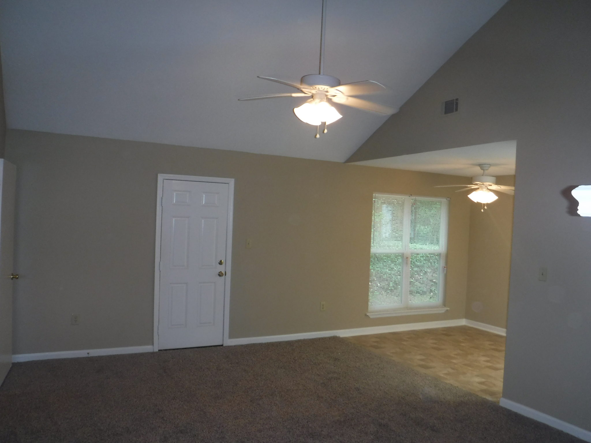 14 x 20 living room with high ceilings and new ceiling fan