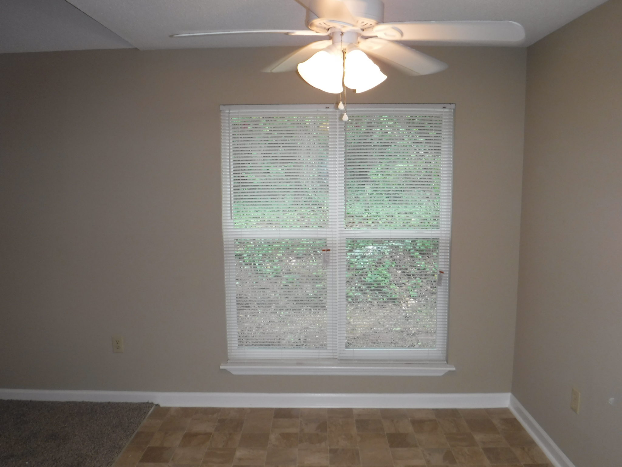 9 X 10 Dining Room With New Ceiling Fan And Double Windows