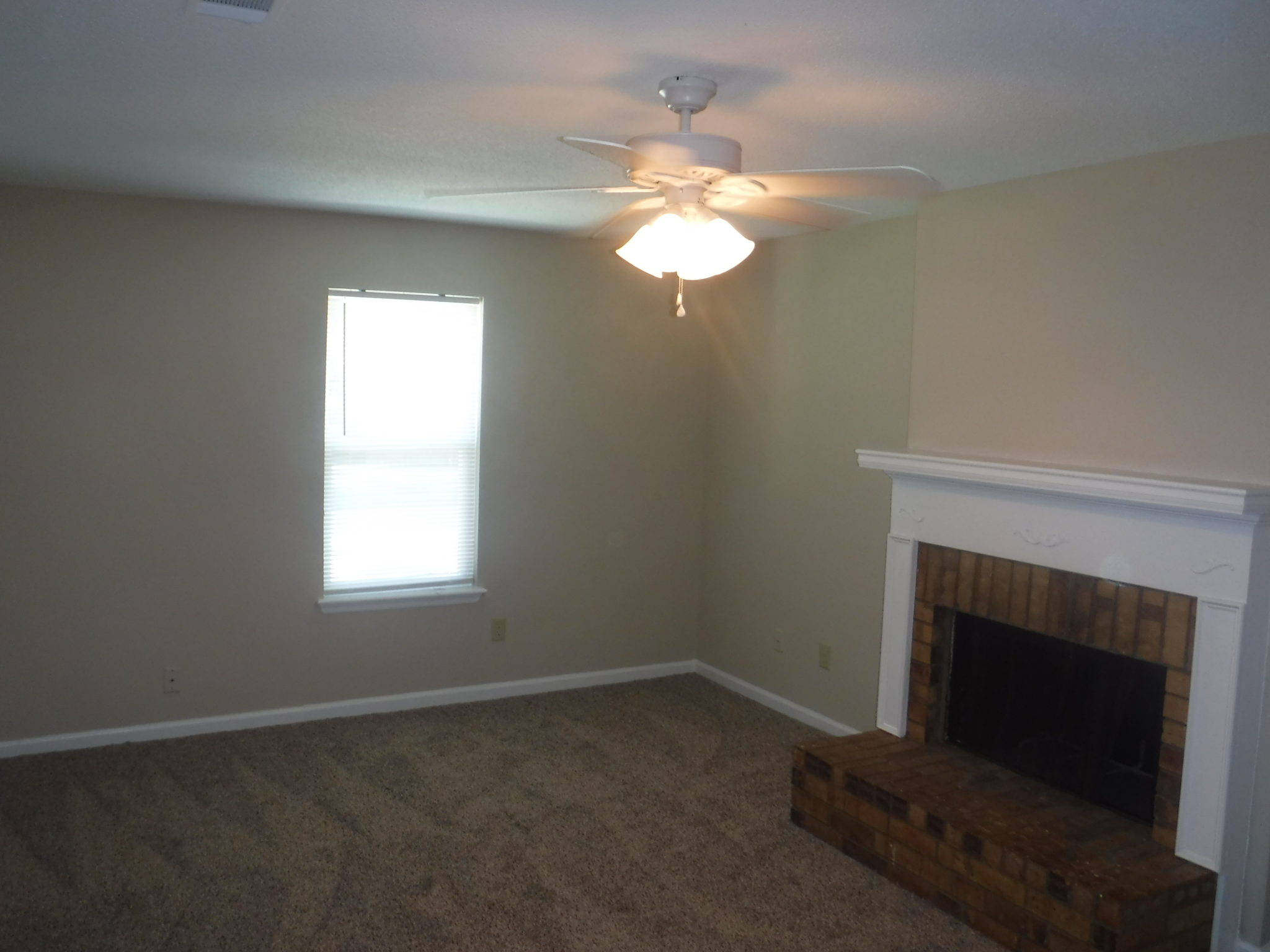 12 X 18 Separate Family Room With New Ceiling Fan And